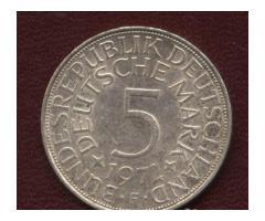 Серебро фрг - монеты по 5 марок