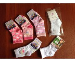Носки для девочки новые на 2-4 года, 12 шт