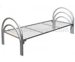 Кровати с металлическим изголовьем, Кровати железные спинки ЛДСП