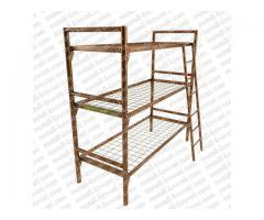 Трёхъярусные металлические кровати для общежитий, кровати двухъярусные низкие цены